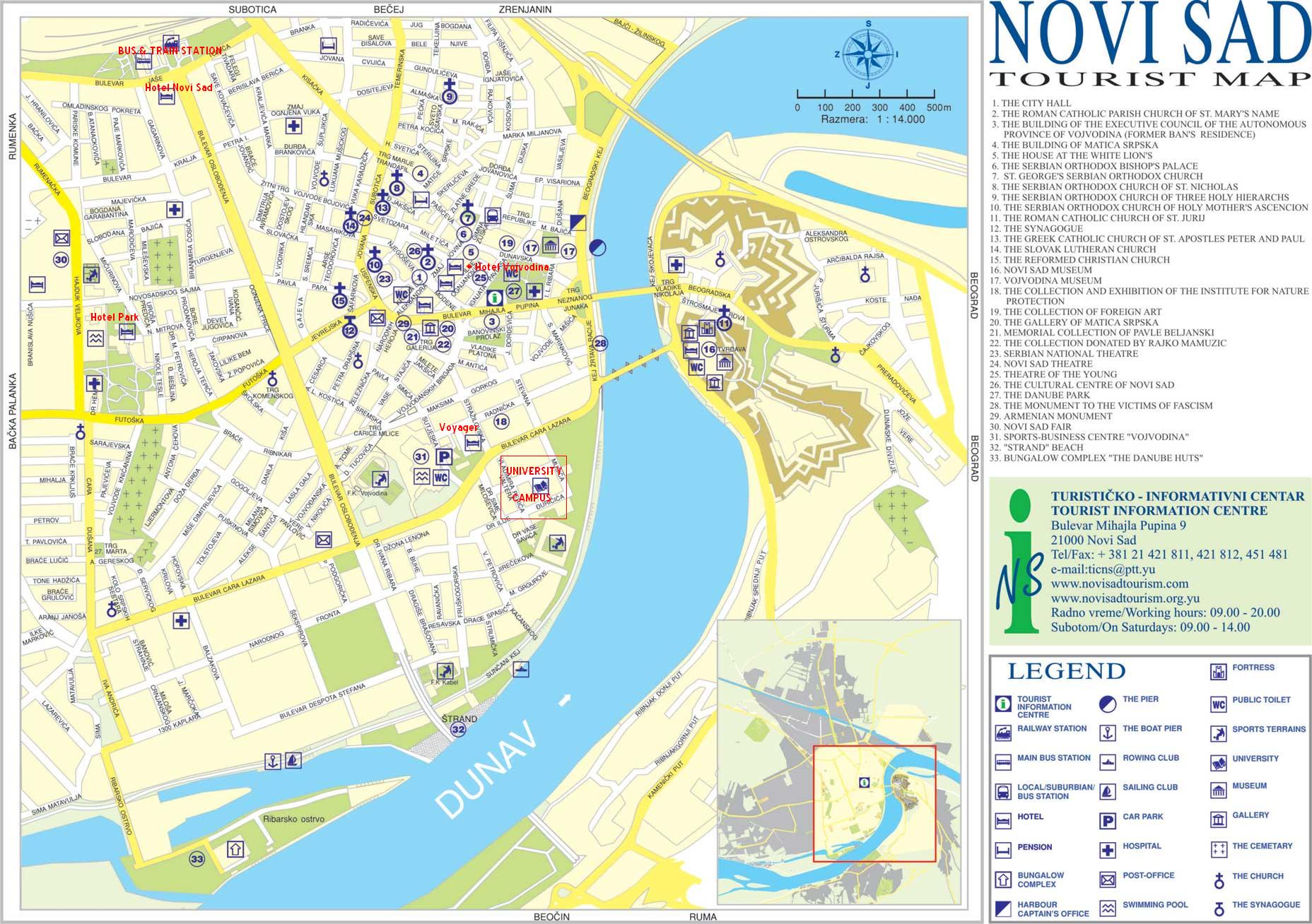 Novi Sad online maps geographical political road physical